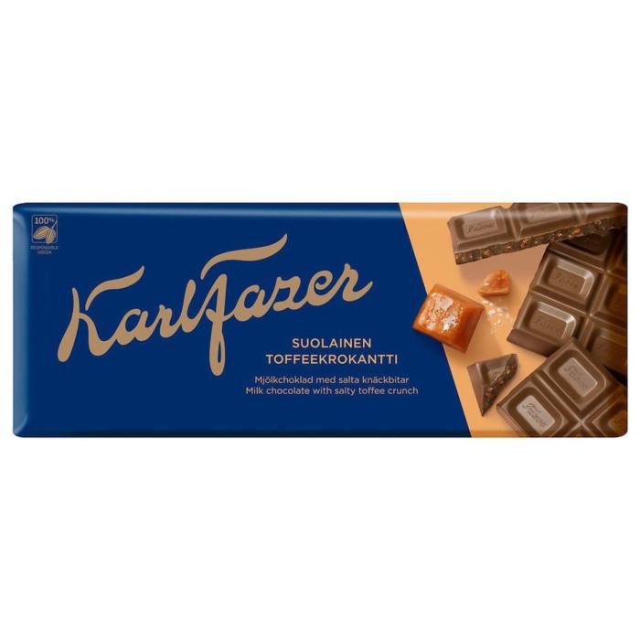 Fazer Toffee-Crunch Vollmilchschokolade 200g