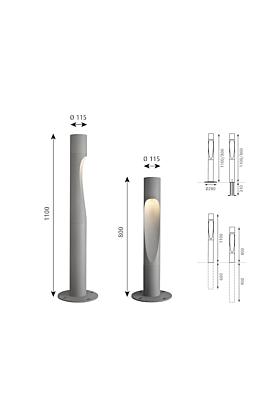 Louis Poulsen Flindt Pollerleuchte LED
