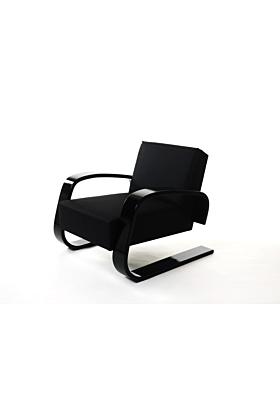 Artek Aalto 400 Sessel (Tank) - Schwarz lackiert