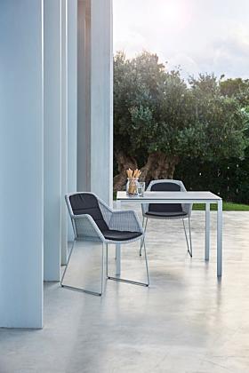 Cane-line Pure Tisch 100x100 cm/ Gestell Weiss