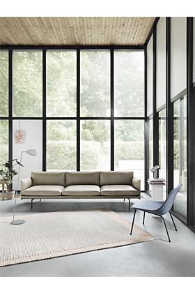 Muuto Fiber Lounge Sessel Stahlbasis 4 Beine