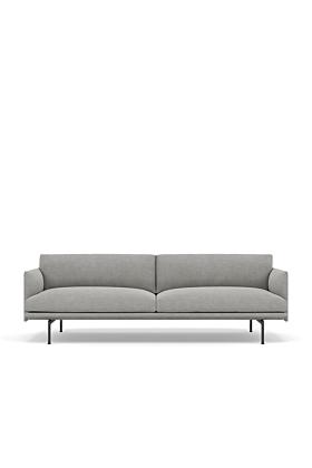 Muuto Outline Sofa 3-Sitzer-Kvadrat Fiord 151 - (hellgrau) - Ausstellungsstück