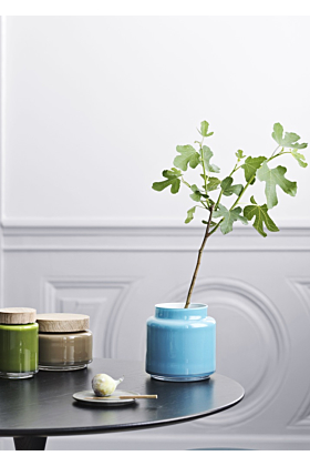 Holmegaard Palet Aufbewahrungsglas/Dose Blau
