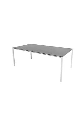 Cane-line Pure Tisch 200x100 cm/ Gestell Weiss